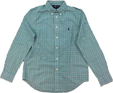 Ralph Lauren - Camisa Cuadros Verde: Amazon.es: Ropa