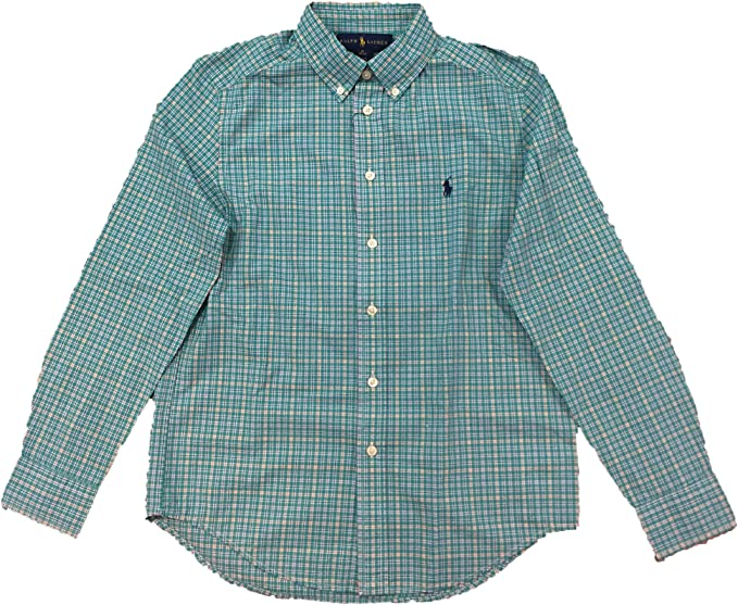 Ralph Lauren - Camisa Cuadros Verde: Amazon.es: Ropa y accesorios