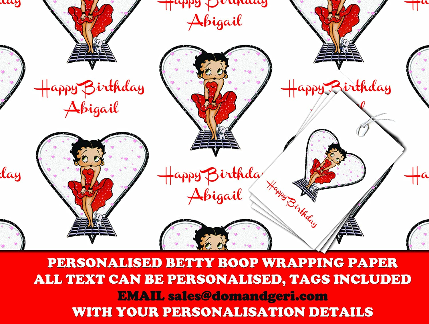 Amazon.com: Personalized Wrapping Paper Betty Boop - 590mm x 840mm ...