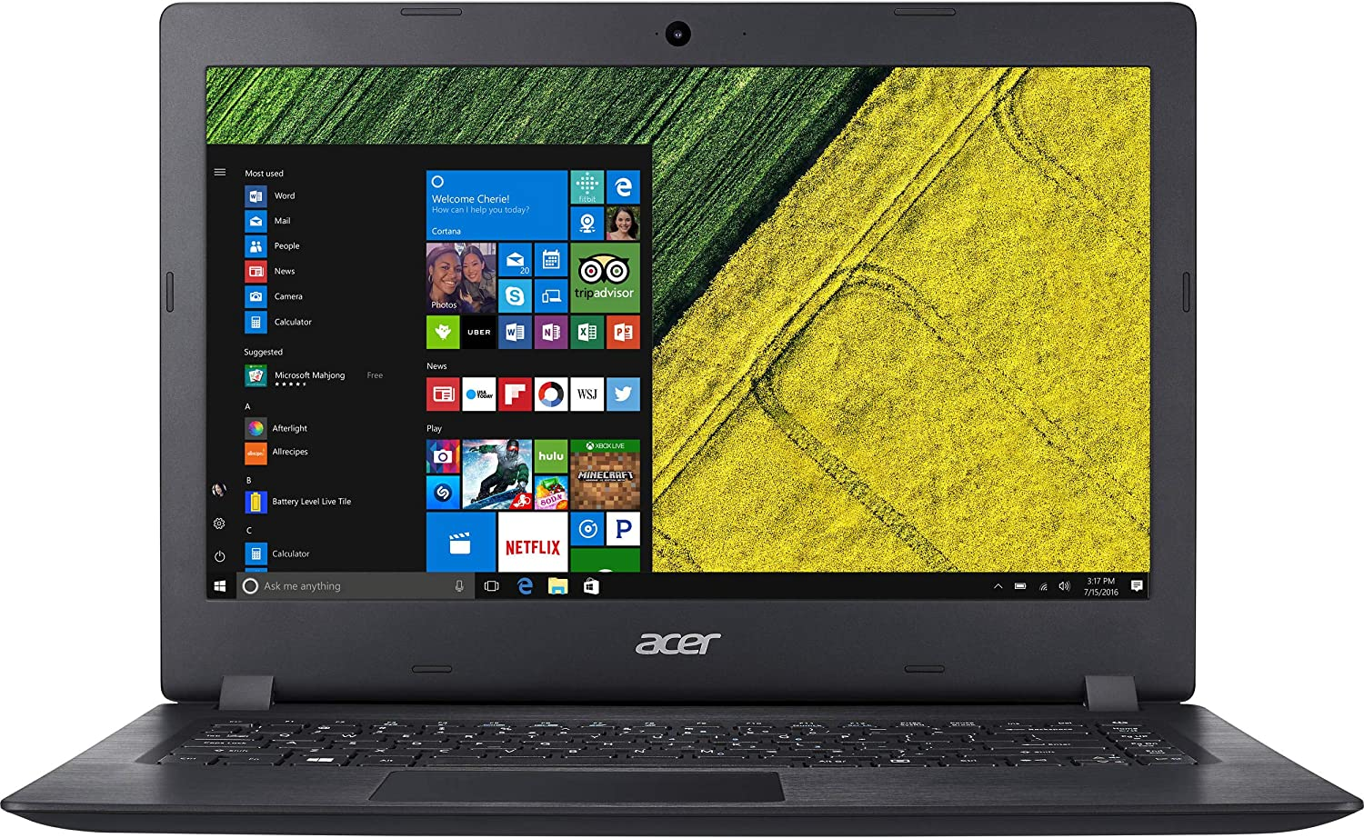 "Acer Aspire 14"" FHD Notebook, Intel Celeron N4000, 4GB DDR4, 64GB SSD, Intel UHD Graphics 600, Windows 10 Home in S Mode (Renewed)"