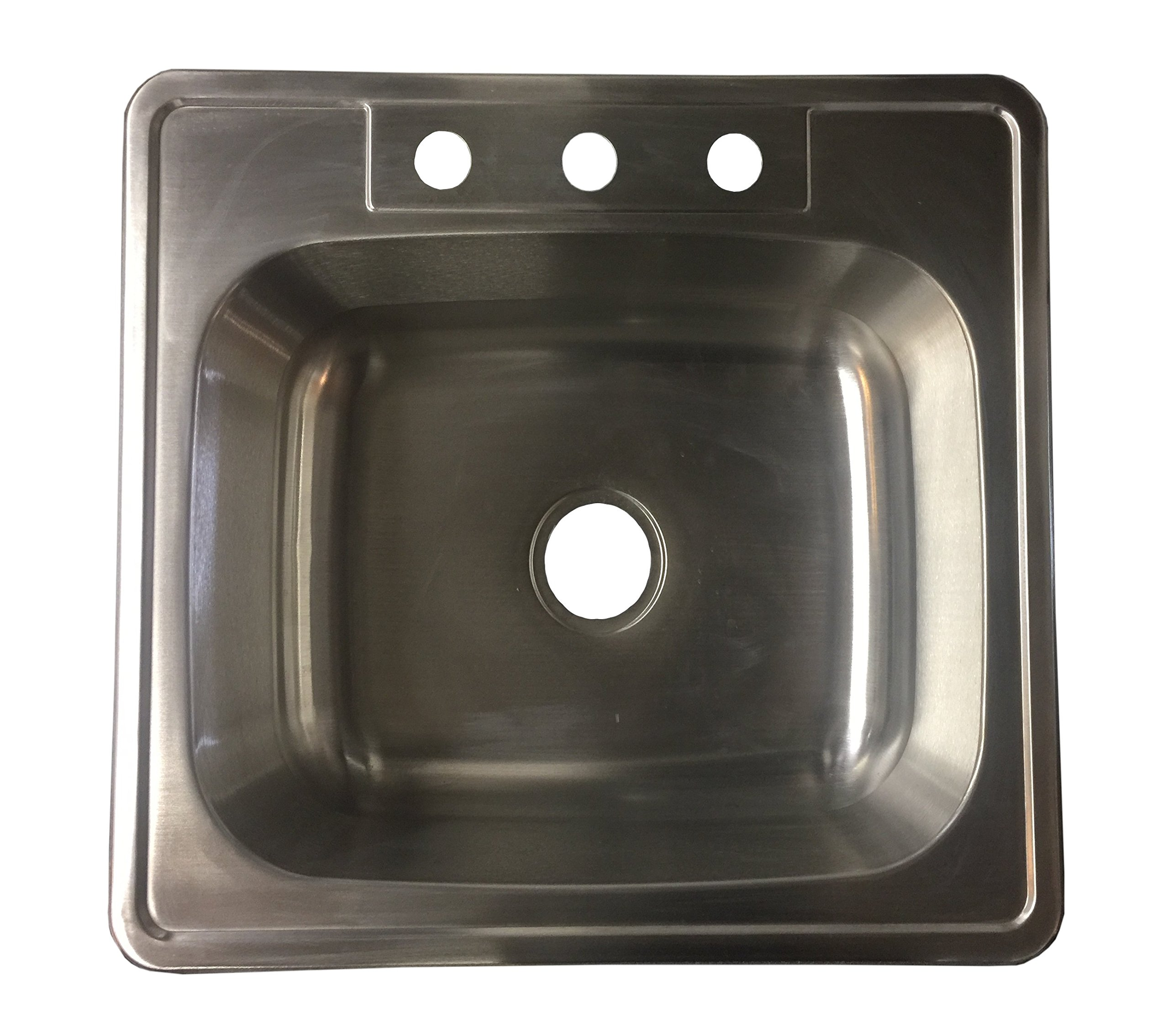 Stainless Steel Over-Mount Single 22G 25'' x 22'' x 8'' T2522-8
