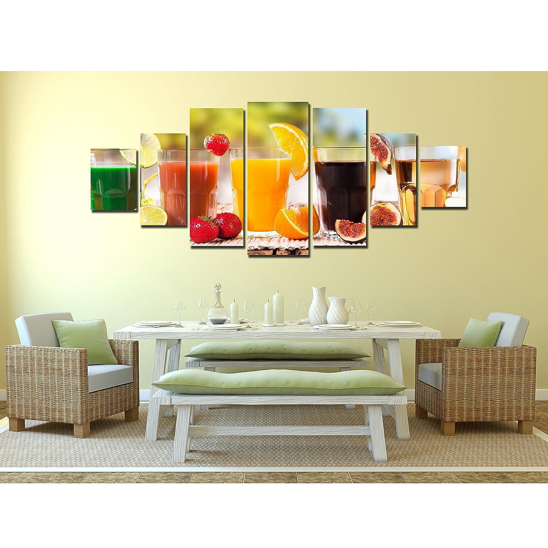 Amazon.com: Startonight Huge Canvas Wall Art Healthy Drinks, Fresh ...