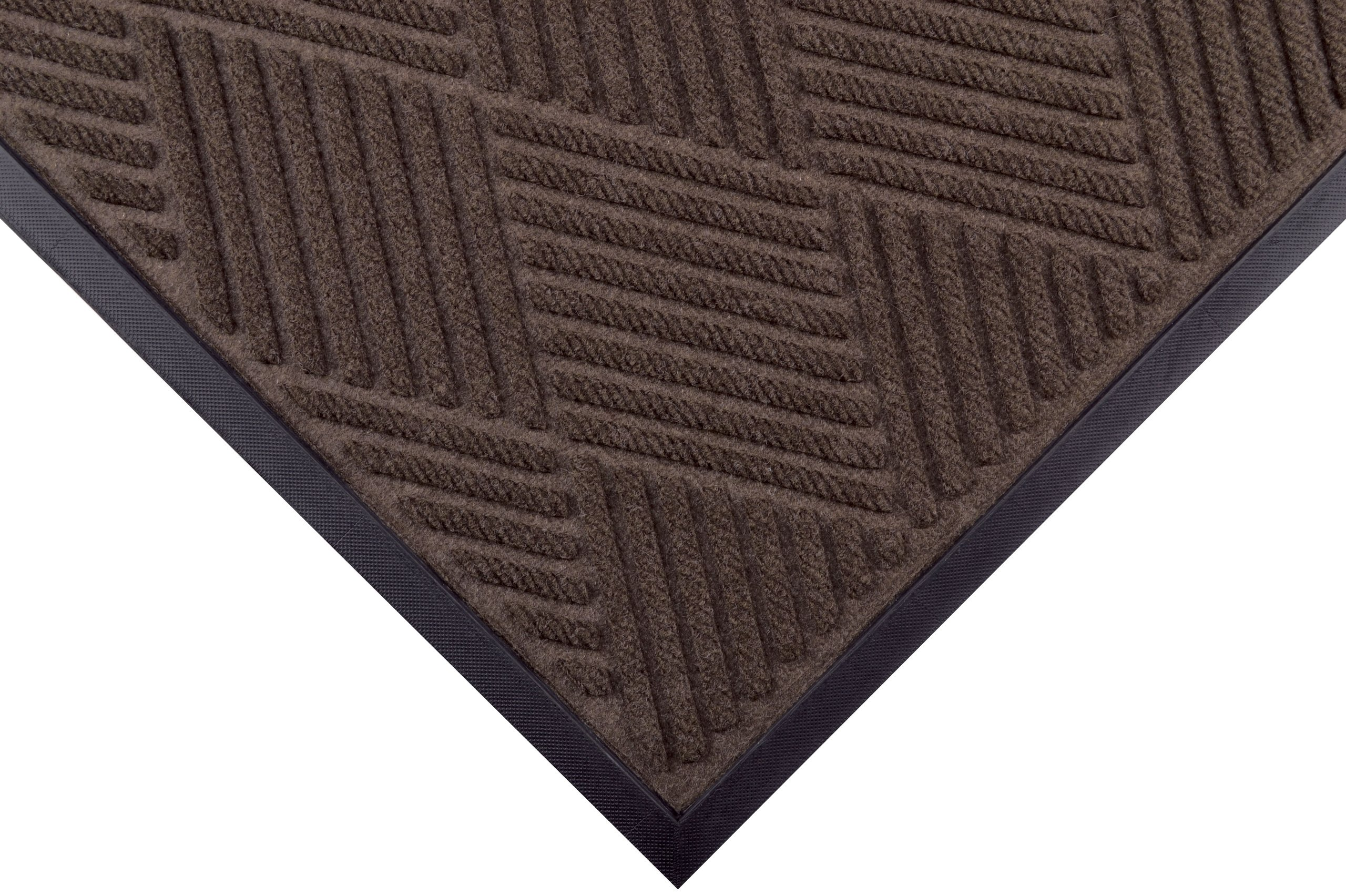 Notrax 168 Opus Entrance Mat, for Heavy Traffic Areas, 4' Width x 6' Length x 3/8'' Thickness, Brown