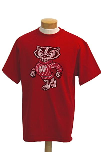 Amazon.com: NCAA Wisconsin Badgers Biggies manga corta para ...