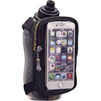 Nathan Unisex-Adult NATHAN Handheld Water Bottle and Phone Case for Running/Walking. Insulated 18 oz, Hand Held Strap SpeedView Flask. Hydration Pack for Runners. NS4861-0015-00, Black, 18 oz