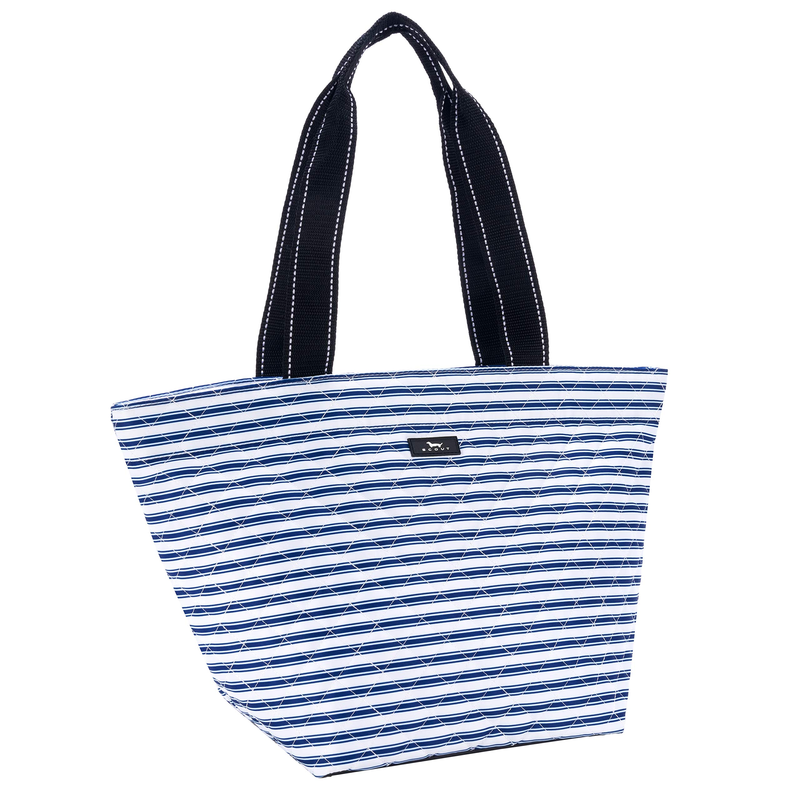 SCOUT Daytripper Everyday Tote Bag, Shoulder Bag, Water Resistant, Wipes Clean, Zips Closed, Stripe Right