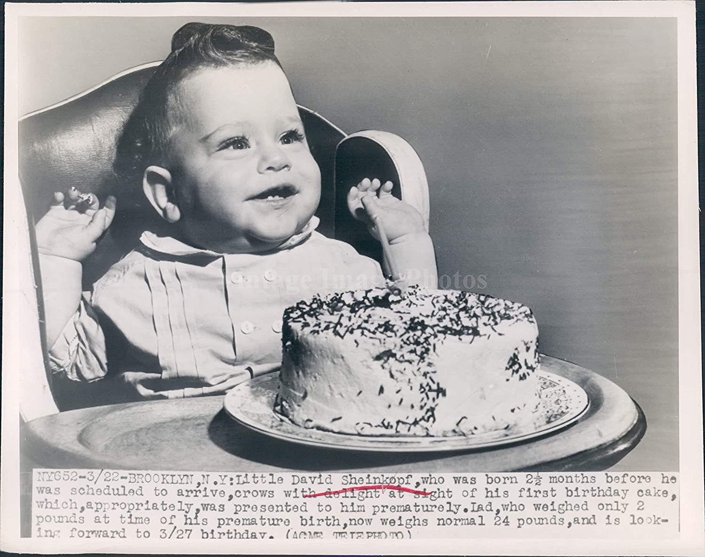 Peachy 1948 Foto Cute Baby Birthday Cake Brooklyn Ny David Sheinkopf Born Funny Birthday Cards Online Bapapcheapnameinfo