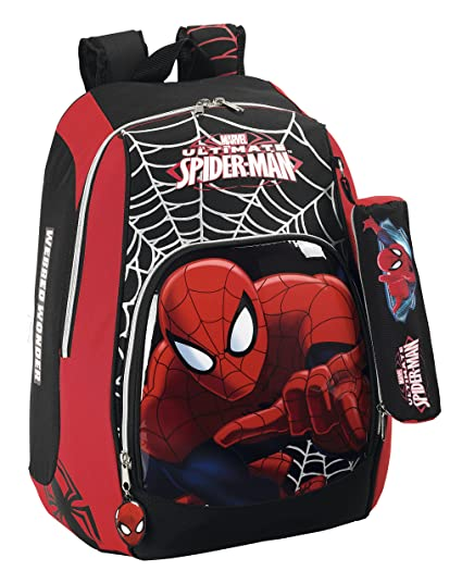 Amazon.com: DAY PACK SPIDERMAN ULTIMATE 11412 33X17X43 ADAPTABLE CARRO: Toys & Games