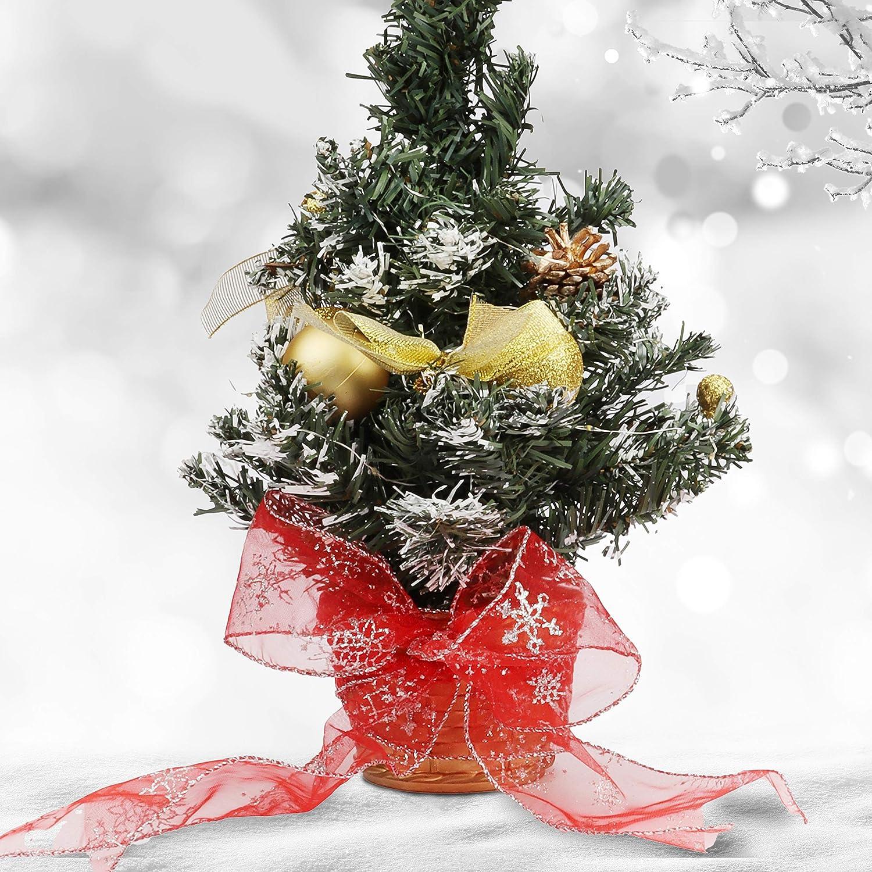 Decoraci/ón /Árbol de Navidad Manualidades Belle Vous Cinta Organza Roja de Navidad 20 m x 63 mm Cinta de Navidad Ancha con Alambre Purpurina Copos de Nieve Cinta Organza Roja Envolver Regalos