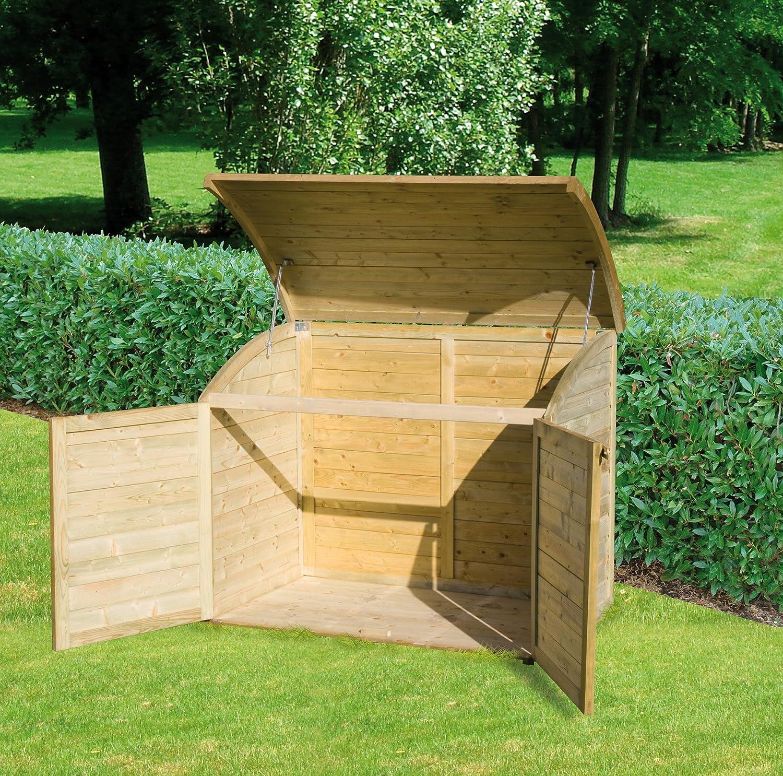 Coffre de rangement pour le jardin en bois TOPAZE 900 L Amazon