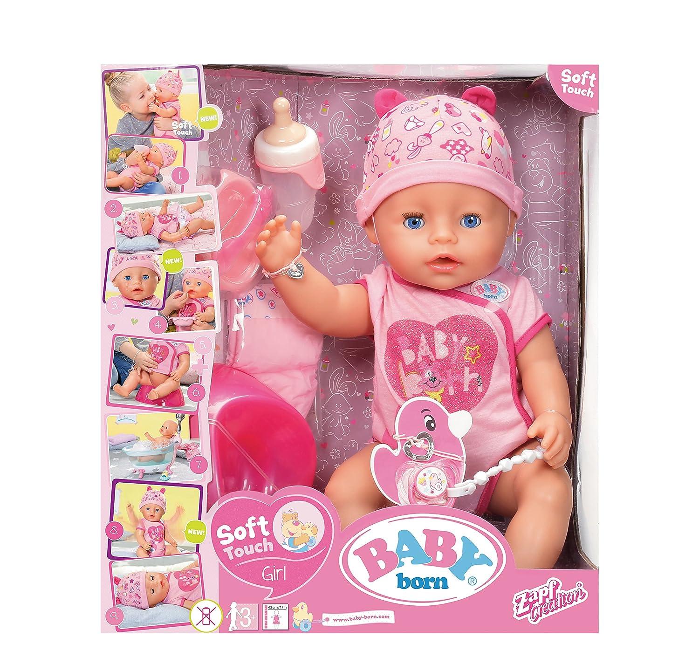 amazon com baby born interactive girl doll toys games