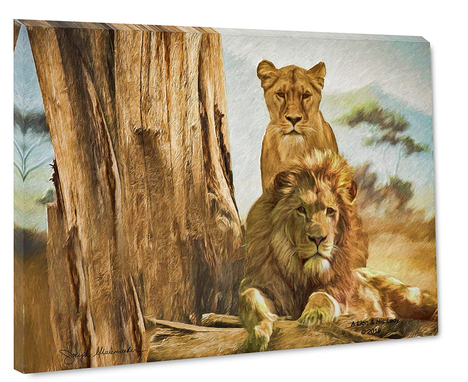 Abstract Art Lion Wildlife 1 PC Canvas Wall Picture Home Decor Poster Artwork