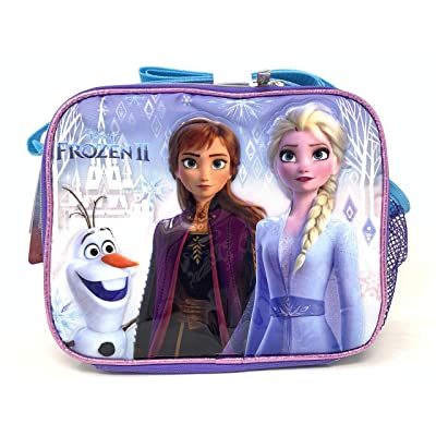 "Disney Frozen Elsa Olaf & Anna Insulated 9.5"" Lunch Bag with Shoulder Strap: Kitchen & Dining"