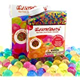 MarvelBeads Water Beads [Non-Toxic] Fully Certified, Rainbow Mix for Kids Sensory Play and Spa Refill BPA & Phthalate Free (Over Half Pound)