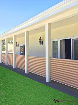 Eden de Decor personalizable privacidad Protector de parabrisas de malla para Patio Deck, Patio, balcón, piscina, porche, valla, barandilla, ...