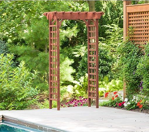 Wooden Garden Pergola Trellis Plant Flowers Climbing Support Outdoor Structure