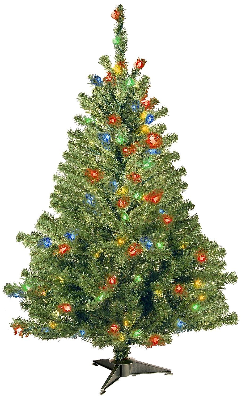 Amazon.com: National Tree 4 Foot Kincaid Spruce Tree with 100 ...