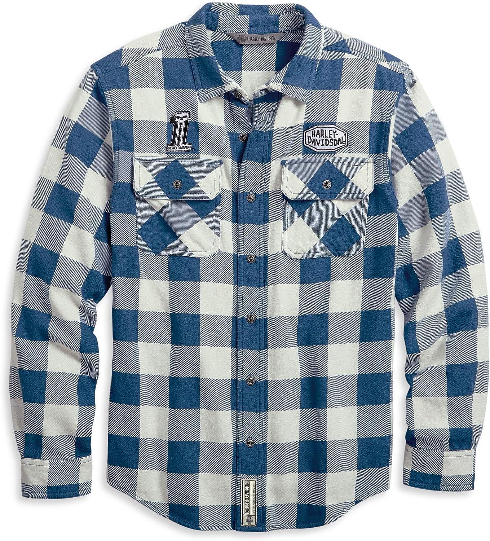 HARLEY-DAVIDSON Buffalo - Camisa de Acampada con Botones para Hombre: Amazon.es: Ropa y accesorios