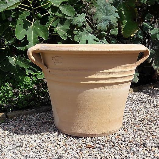 Kreta Sorbus - Macetero de cerámica con asa, 45 – 60 cm, para jardín, terraza, patio, cerámica, color terracota: Amazon.es: Jardín