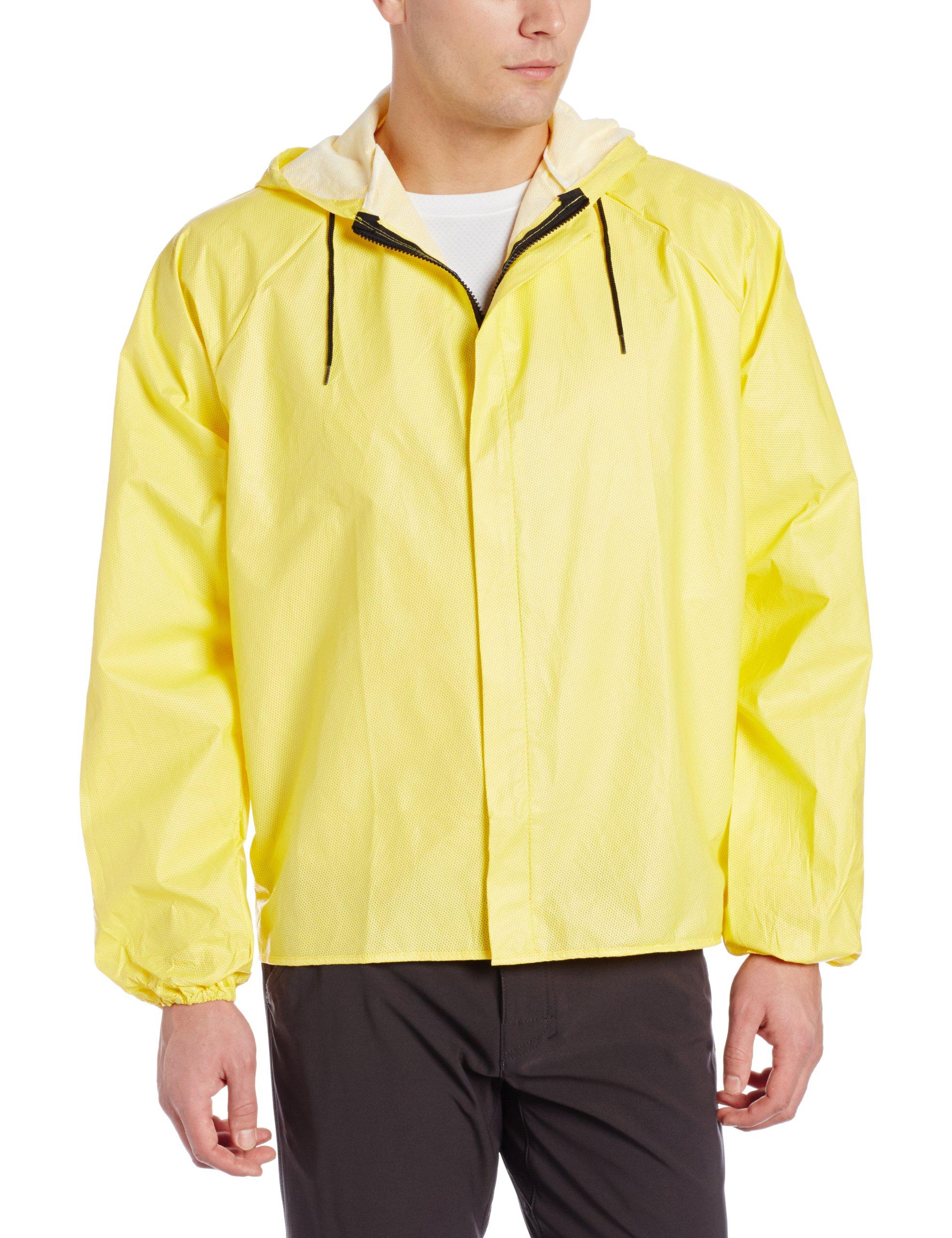 Rainshield O2 Hooded Cycling Rain Jacket, Small, Yellow