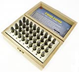 toolzone HB273 3 mm Alphabet Letter and Number Stamps/Punches - Silver (36-Piece)