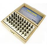 Toolzone 3mm 36Pc Alphabet Letter & Number Stamps / Punches