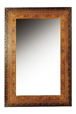 Moderne Miroir mural rectangulaire marocain multicolore Anamitra 90cm VE-25