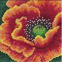 Kit de bordado de cuentas de flor llamativa;