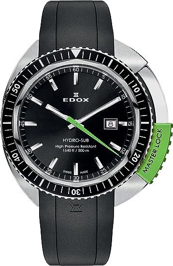 EDOX Reloj analógico para Unisex de Cuarzo con Correa en Caucho 53200 3NVCA NIN: Amazon.es: Relojes