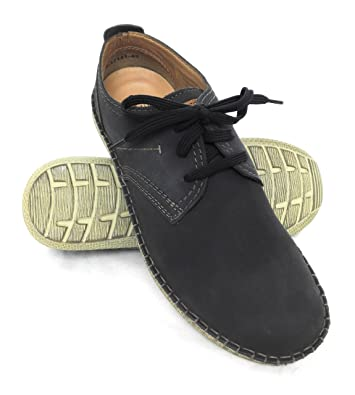 Men's Shoes Casual Style Shoe With Laces Made Of Leather