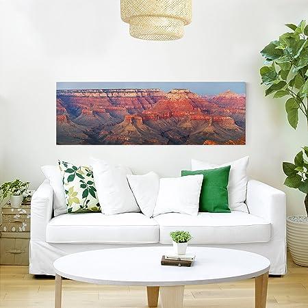Bilderwelten Cuadro en Lienzo - Grand Canyon After Sunset - Panorama Apaisado, Cuadros Cuadro Lienzo Cuadro sobre Lienzo Cuadro Moderno Cuadro Decoracion, Tamaño: 30 x 90cm