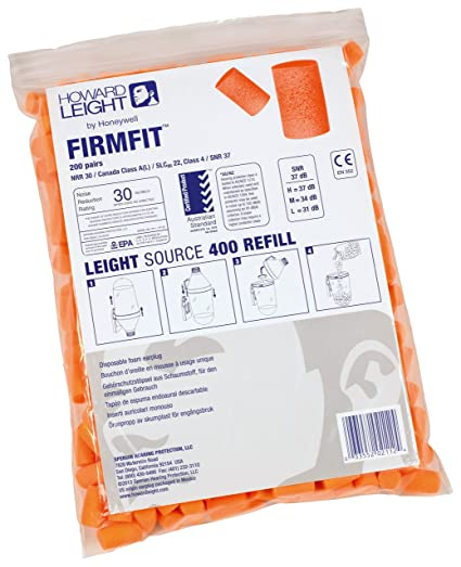 Howard Leight by Honeywell FirmFit Earplug Refill for Leight Source 500 Dispenser, 500-Pairs