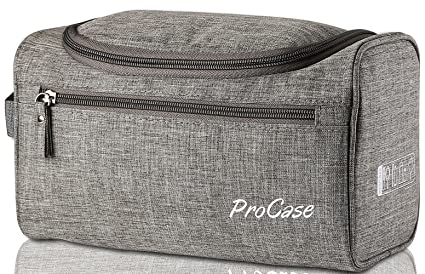 ProCase Toiletry Bag Travel Case with Hanging Hook, Dopp Kit Organizer for  Accessories, Shampoo c6668e7f17
