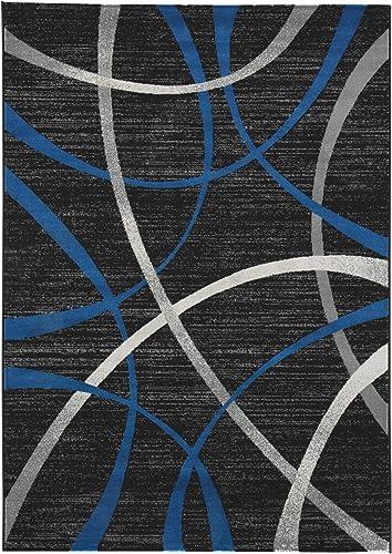 Signature Design by Ashley Jenue Large Rug, Black Gray Blue