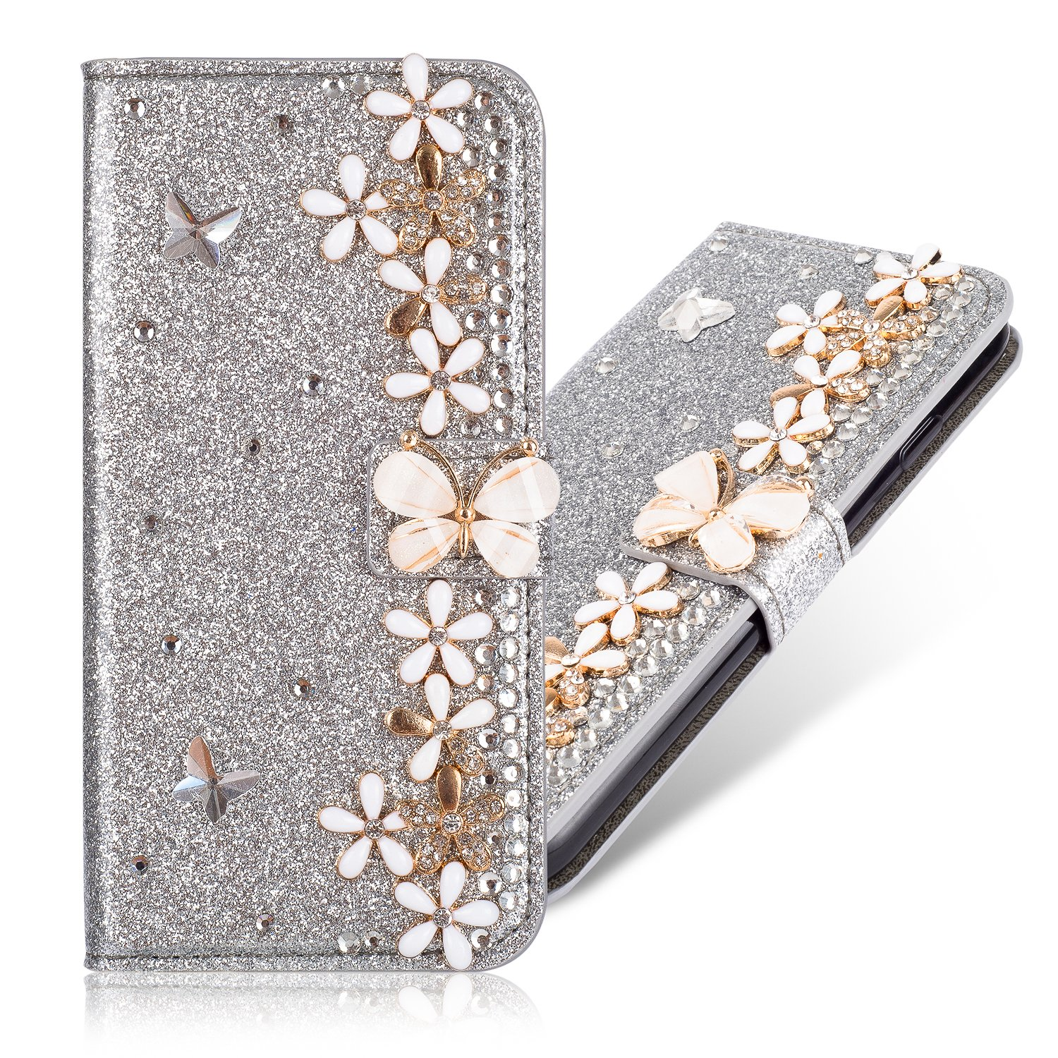 Stand Bookstyle Sparkle Bling Glitter Diamant pour Samsung A5 2017
