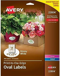Amazon com : Avery Print-to-the-Edge True Print Glossy Round