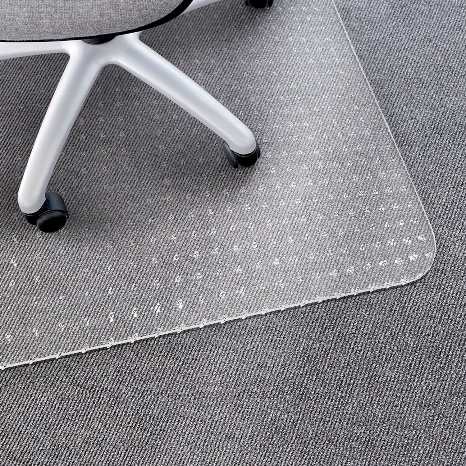 Matladin Heavy Duty PVC Chair Mat, 1/8 inches Transparent Desk Chair Mat,for Carpeted Low Standard Medium Flooring Protector for Office
