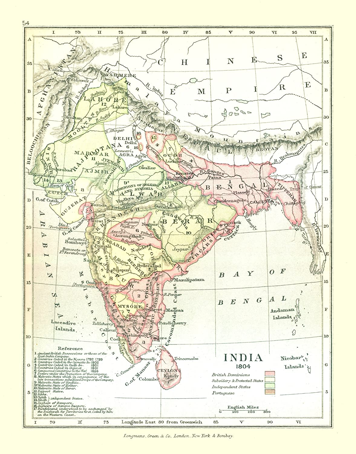 India In Asia Map.Amazon Com Old Asia Map India In 1804 Gardiner 1902 23 X