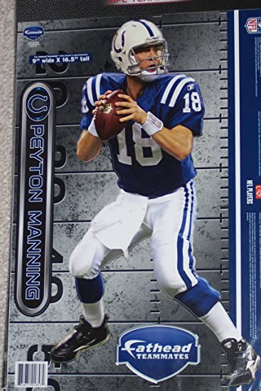 Amazon.com : FATHEAD Peyton Manning Indianapolis Colts Wall Graphic ...