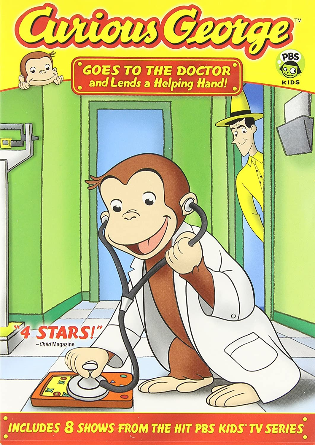 amazon com curious george goes to the doctor and lends a helping