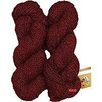 Vardhman Fusion Deep Red (200 gm) Wool Ball Hand Knitting Wool/Art Craft Soft Fingering Crochet Hook Yarn, Needle Knitting Yarn Thread Dyed