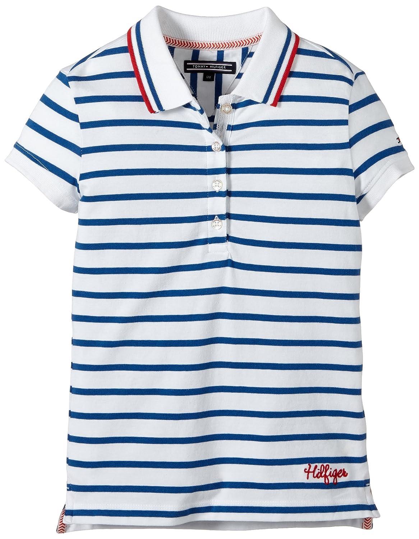 Tommy Hilfiger Sophia Stripe Polo S/S, Niñas, Blau (Monaco Blue-PT ...
