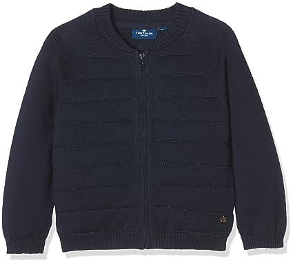 TOM TAILOR Kids Baby-Jungen Strickjacke Knitted Bomber Jacket, Blau (Real  Navy Blue 2962cd3999