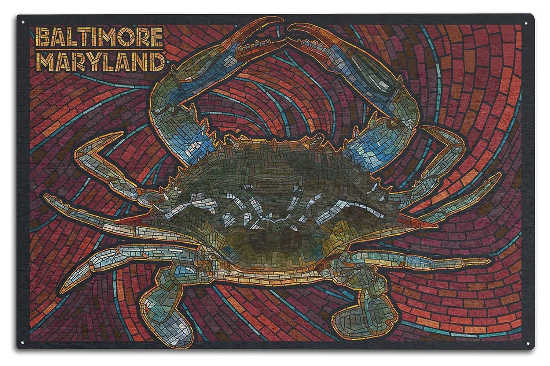ボルチモア、メリーランド州 – ブルーCrab用紙モザイク Canvas Tote Bag LANT-46772-TT B073668X9N  10 x 15 Wood Sign 10 x 15 Wood Sign