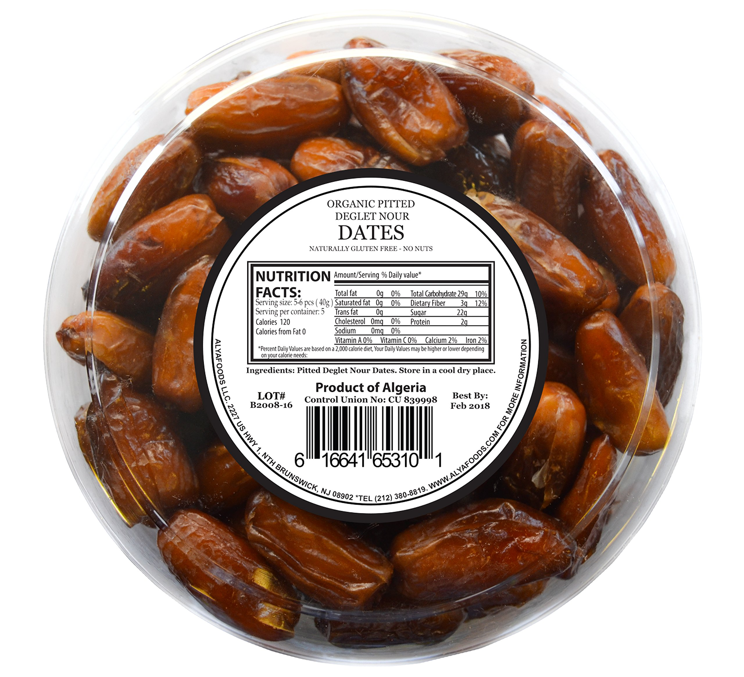 Organic Dates, Pitted, Deglet Noor (28 Ounces) by ALYA (Image #2)