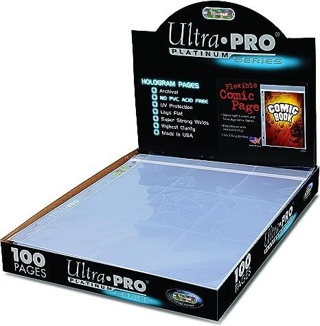 Ultra Pro Lado de cómic 3 Agujeros (Caja de 100 Unidades), pequeño, Transparente.: Amazon.es: Deportes y aire libre