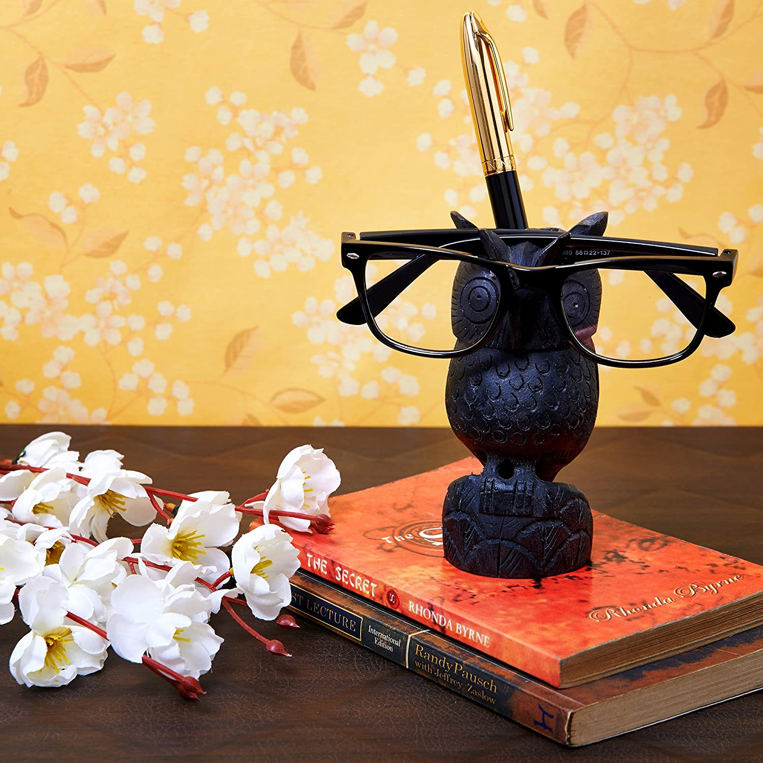 3a13f27ec22d Spectacle Holder Wooden Eyeglass Stand Handmade Display Home and Office Decor  Accessories A Perfect Gift for Him or Her (Owl 1)