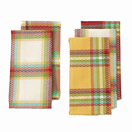 Attirant Fall Thanksgiving Harvest Kitchen Dish Towels Set Of 5 By The Big One    Autumn Plaid