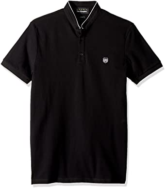 c503d9db21 The Kooples Men s Mandarin Collar Pique Polo Shirt at Amazon Men s ...