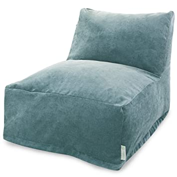 Amazon.com: Majestic Home Goods Villa Azure Bean Bag silla ...